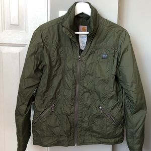 Carhartt Woman's lightweight Olive Green Jacket